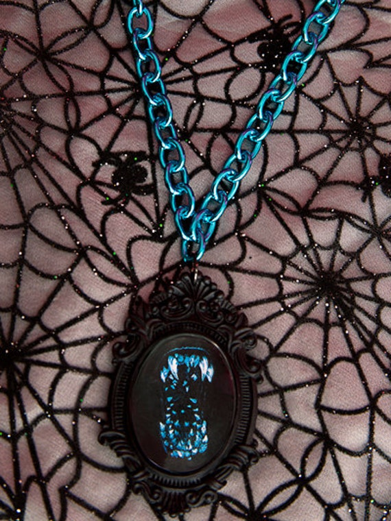 Attack the Block Cameo Necklace with Blue Chain