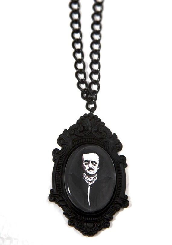 Edgar Allan Poe Mourning Necklace