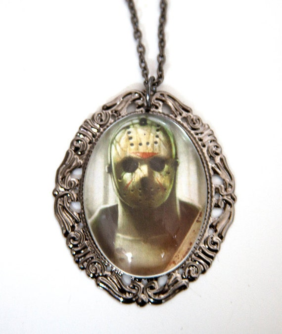 Friday The 13th Jason Cameo Necklace