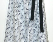 Pillowcase Dress.  White with black keys and black shoulder ribbon/bow. - RachelMcGrew