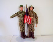 Reserved for Bill 1960s Pair GI Joe Action Soldier Dolls by Hasbro