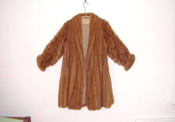 Deco Era Mink Fur Full Length Coat or Jacket Vintage