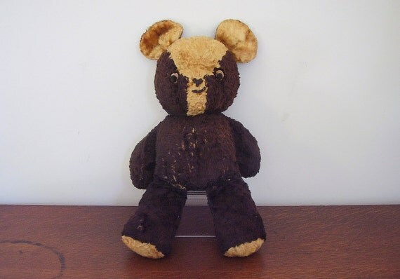 Antique Teddy Bear Black and White Mohair
