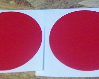 "5""  Red Vinyl Circle Decals"