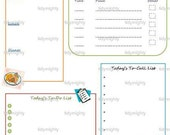 Crazy Day (Daily) Planner / Organizer - Printable PDF (INSTANT DOWNLOAD)