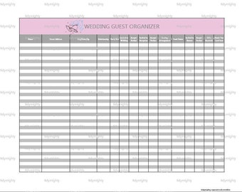 Wedding Gift Log Template : Wedding Guest Organizer / Tracker - Printable PDF (INSTANT DOWNLOAD ...