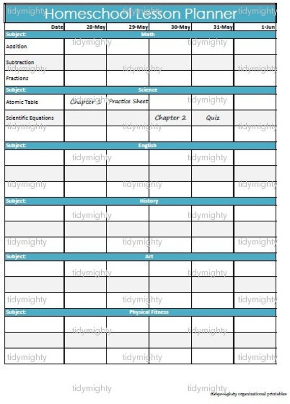 Sizzling image with regard to printable homeschool planner