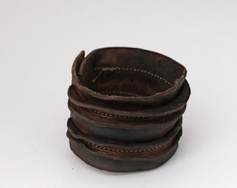 Rough & Tough handmade Leather Cuff