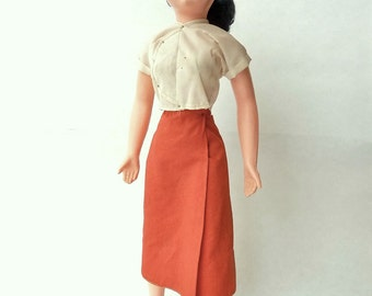 """1950s Vintage Fashion Doll  w/  Hand Painted Face  -- 15"""""""