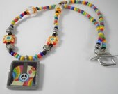 Hippie/Boho/Guitar Peace Necklace