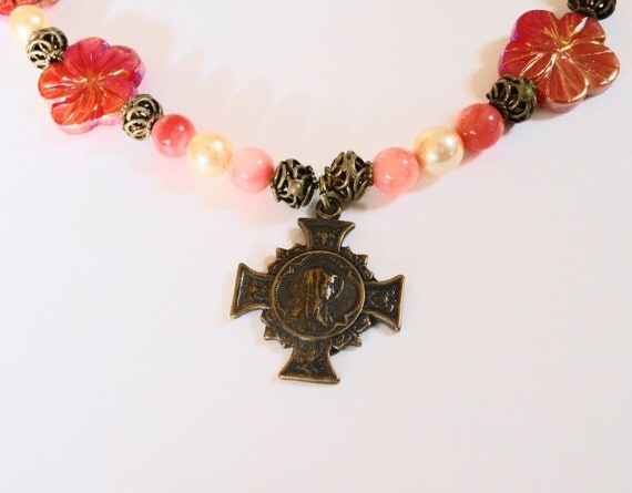 Mary, Flower of Heaven Necklace