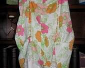 Refashioned Spring Orange/Pink Floral Skirt