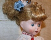 Vintage Bisque Porcelain Doll - Blue Eyes - Blonde Hair - 16 Inches - Collectible - Toy