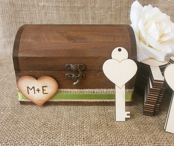 Wedding Guestbook With 50 Wooden Keys Alternative Advice Book For Your Reception Keepsake