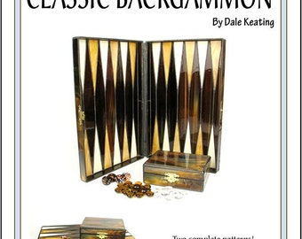 Stained Glass PDF E-Pattern Tutorial, Classic Backgammon