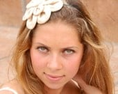 Camel linseed flowers headband