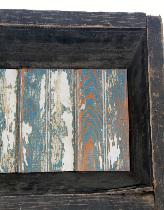 Salvage Millinery Wood Box: Historic New Orleans Beadboard - Antique Milliner rustic blue white woodgrain
