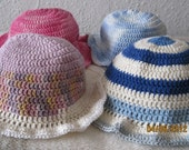 4 summer crochet caps