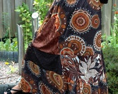 SALE 40% OFF - Boho Chic Gypsy Long Skirt - size L-XL-2XL