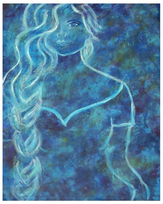 Original 8 by 10 Art Print called Guinevere by Charlotte Phillips