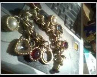 Gem Stone Toggle Bracelet