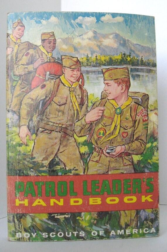 Vintage Boy Scouts - Patrol Leaders Handbook - 1968