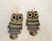 Retro Owl Earrings