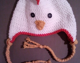 Chicken hat/Barnyard animal/cluck hat/takehome takeaway outfit/chick/photo prop/newborn/toddler/child/adult/shower gift