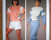Misses Easy to Sew Pullover Top, Pull-on Pants and Shorts Sewing Pattern Simplicity 6906 Size Large 18 - 20