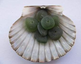 Eco Friendly Beach Glass Jewelry Making Sea Glass Gems Drilled