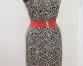 1950s Rockabilly style animal print dress from an original pattern L UK 14