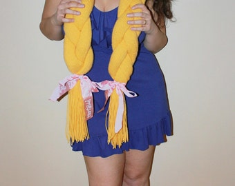 PATTERN INSTANT DOWNLOAD Rapunzel Disney Princess Hair Knitted Scarf