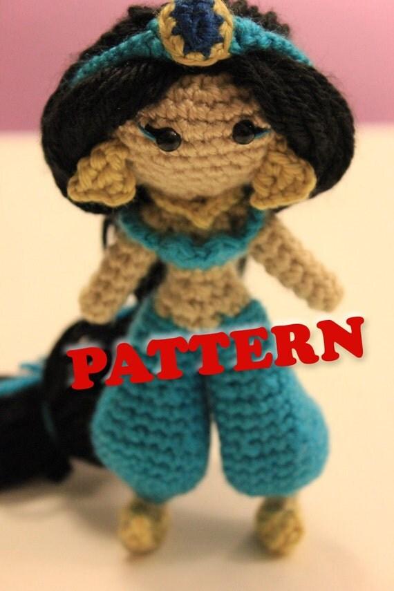PATTERN Instant Download Jasmine Princess Crochet Doll by ...