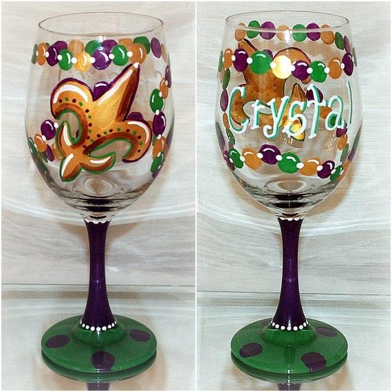 Fleur De Lis Drinking Glasses