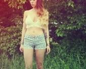 Handmade Scalloped Edged Crochet Halter Top, 100% Cotton Bikini Top, Hippie Top, Crop Top, Festival Top