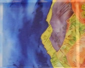 Hand painted silk scarf . Armenian scarf.  Martiros Saryan painting scarf. Made to order!