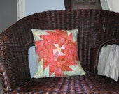 Sunrise Pinwheel Pillow Cover