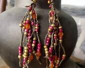 Firecracker Hemp Earrings