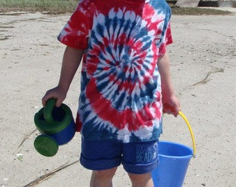 Patriot spiral tee for kids
