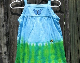 Toddler/Girls sleeveless butterfly dress