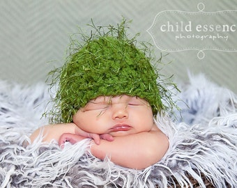 75% OFF Photo Prop Baby Hat 0 to 3 Month Olive Green Wispy Baby Beanie Baby Boy Hat Baby Girl Hat Whimsical Baby Gift Photography Prop