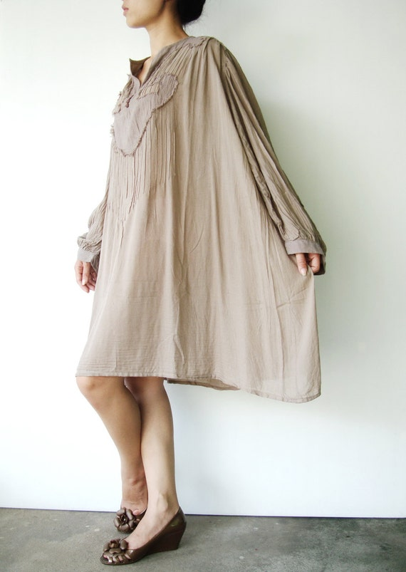 NO.46 Light Grey Cotton Oversized Tunic