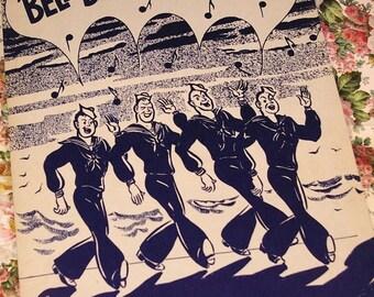 Vintage 1944 Sheet Music Bell Bottom Trousers 1940s World War WW II Barbelle Sailor Cover Art