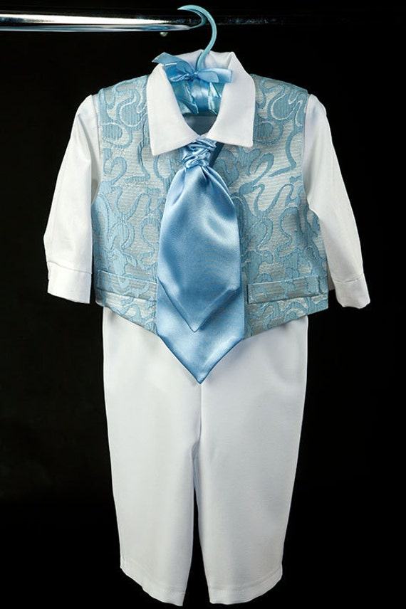 Baptism christening baby boy clothes first birthday boy suit
