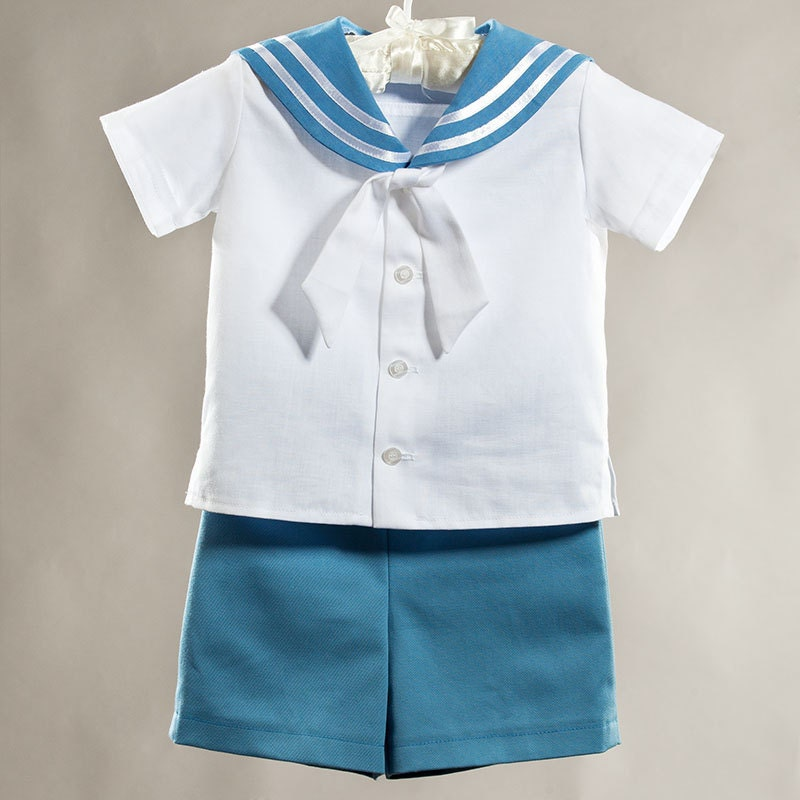Sailor Boy Suit Baptism Christening Boy Outfit First Birthday