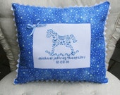 Personalized Nursery Room Baby Boy Accent Pillow Cover