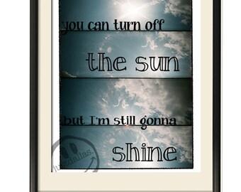 Jason Mraz - You Can Turn Off The Sun But I'm Still Gonna Shine  8x10 Print