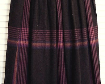 Diane von Furstenburg Vintage Plaid Wool Skirt
