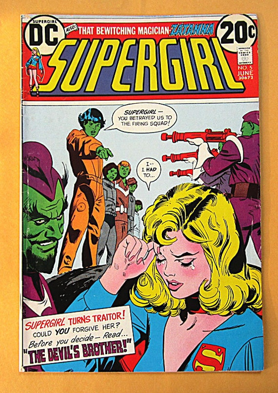 """DC Comic Supergirl Number 5, """"The Devil's Brother"""", Bronze Age"""