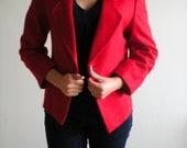 Candy Apple RED Jacket Button BLAZER